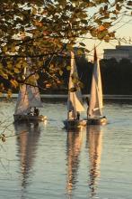 Sailing on Lake Crabree